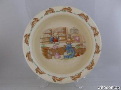 Royal Doulton Bunnykins - Mr Piggley's stores - Baby's bowl - As New