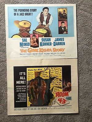 Lot of 2 Original Vintage 22x28 Half Sheet Movie Posters. 1940s - 1980s!