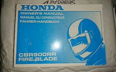 Honda CBR900RR FireBlade (1999) Owner's manual