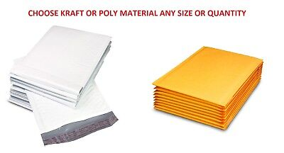 Choose KRAFT or POLY BUBBLE MAILERS SHIPPING MAILING PADDED BAGS ENVELOPES