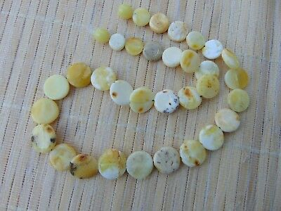 Natural Baltic butterscotch white egg yolk amber stones beads Necklace