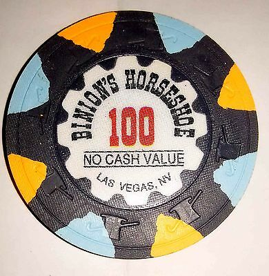 Binion's Horseshoe Casino Obsolete $100 WSOP Top Hat and Cane Mold Poker Chip