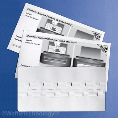 Waffletechnology Sheet Fed Scanner Cleaning Card featuring (15 Sheets) (KW3-SFS1