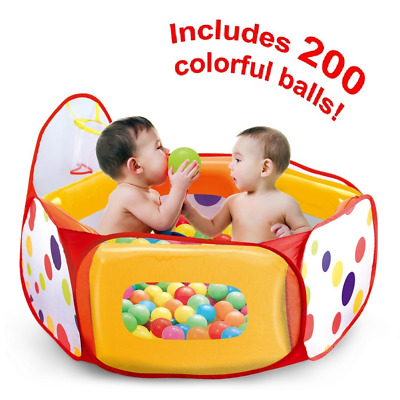Kids Ball Pit Tent with 200 Crush Free Pit Balls Super Safe for Kids