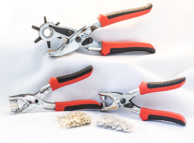 Signature Handtools Hole Punch, Eyelet and Press Stud Plier Set