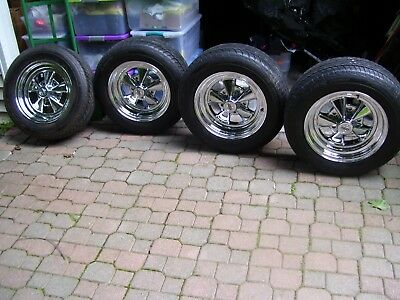 set 4 very nice cragar wheels 15x7 like news fit 5x5½ pick-up Ford or Dodge