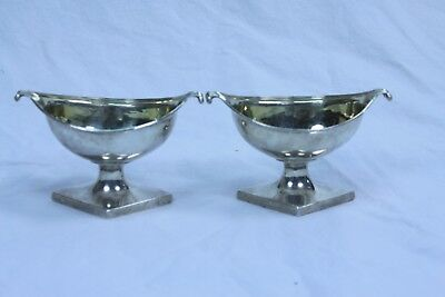 A pair of Scottish late 18 c Georgian Cunningham Sterling silver  sauce boats
