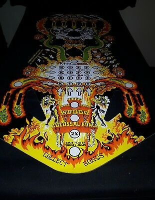 KISS Pinball Playfield Overlay - RARE FabFan Version