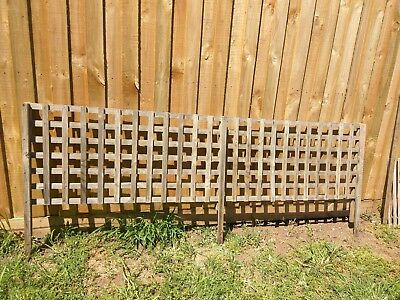 4 x Fence Extension Topper Lattice & 9 spare replacement pieces