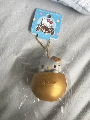 Rare Limited Edition Hello kitty Golden Egg Squishy