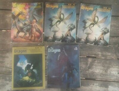 Lot of 10 Dragon Magazine AD&D Dungeons and Dragons #36, 50, 52, 52, 53-57, 62
