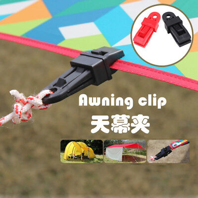 Plastic Outdoor Multifunction Camping Tent Awning Pole Connector Buckle Black
