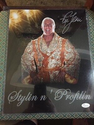 Ric Flair 11X14 Signed Photograph JSA Authenticated Stylin N Profilin