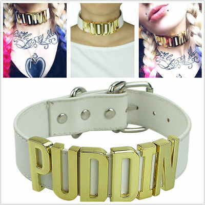 Harley Quinn Choker Suicide Squad Inspired Neck Collar Puddin Cosplay Necklace