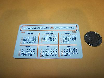 1965 Union 76 Pocket Calendar Gasoline Oil Gas