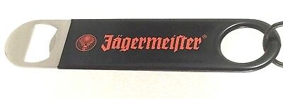 Jagermeister Bartenders Bottle Opener Black Rubber Grip Metal Bar Speed Key New