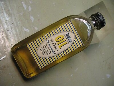 White   Oil  For  Sewing  Machines    Bottle  Paper  Label