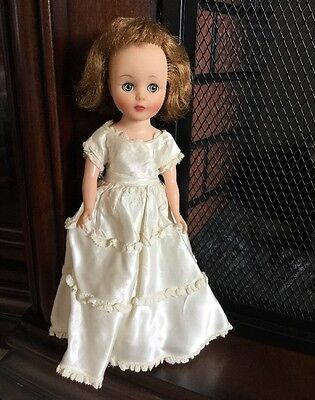 """American Character Toni Doll 10"""" Vintage 1950's Blonde Hair Clothing Blue Eyes"""