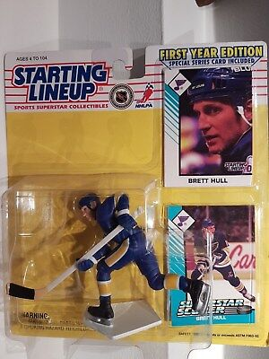Brett Hull St Louis Blues NHL Starting Lineup Action Figure 1st Year Edition NIB