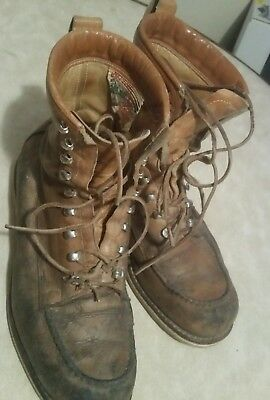 Vintage leather Official Boy Scout hiking boots