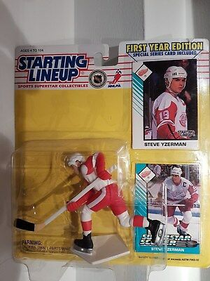 Steve Yzerman Detriot NHL Starting Lineup Action Figure 1st Year Edition NIB