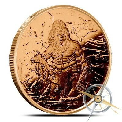 Frost Giant Nordic Creatures 1 OZ .999 Fine AVDP Copper Round Bullion - Coin