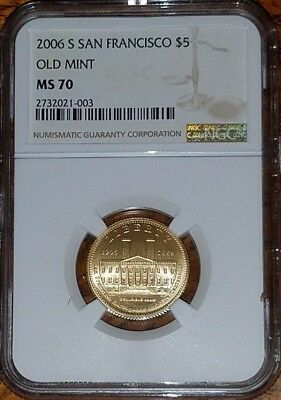 2006-S San Francisco Old Mint Commemorative Gold $5   NGC MS70     **Auction**