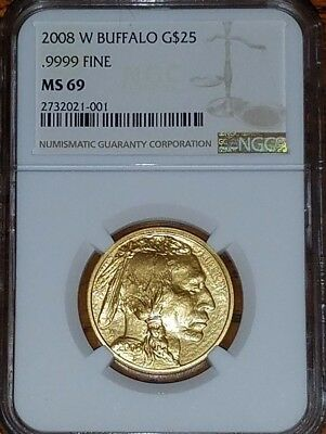 2008-W  $25  Gold Buffalo    Ms69  Ngc          **auction**