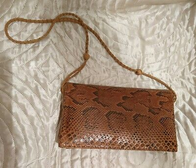 Vintage real phyton leather bag