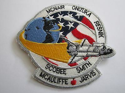 NASA Space Shuttle Challenger STS-51L Vintage Patch McNair Smith Scobee Resnik