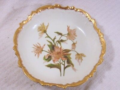 Antique Victorian Hand Painted Porcelain French Limoges  Bowl