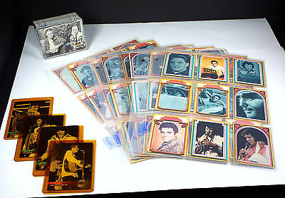 ELVIS PRESLEY 171 Trading Card Lot 1978 Boxcar facts set - 1992 River Chase Gold