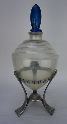 Vintage Large Art Deco Drug Store Apothecary Jar with Stand