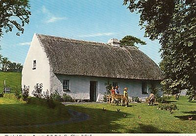 Thatched Cottage Bunratty Folk Park Co. Clare Ireland John Hinde Postcard 2/355