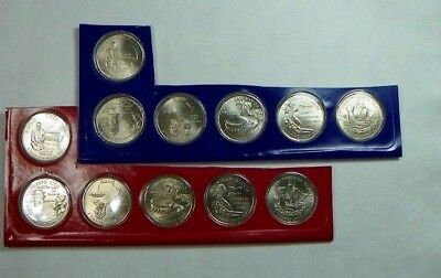 2009 P D Unciculated DC Territories quarters 12 coins from U.S Mint