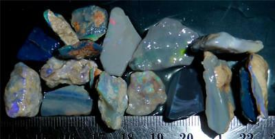 100 Cts #985 Opal Rough And Rough Rubs From Lightning Ridge Australia