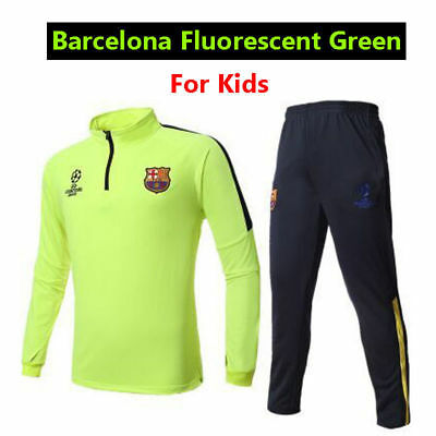 2Pcs Training Suit Kids Boy Soccer Tracksuit Football Sportswear Tops Bottoms AU