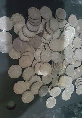 joblot of old pre decimal sixpence coins