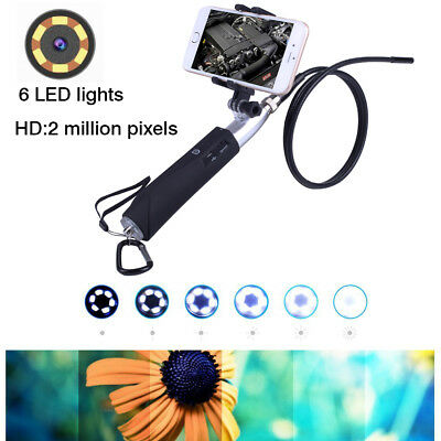 Handheld 1M Rigid  WIFI Endoscope Inspection HD Scope Camera Adjustable lights