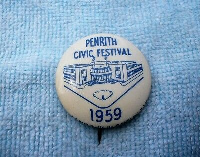 1959 Penrith Civic Festival Appeal Tin Badge