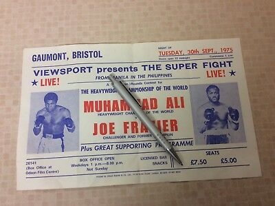 Muhammad Ali v Joe Frazier original fight flyer Thrilla in Manila 1975