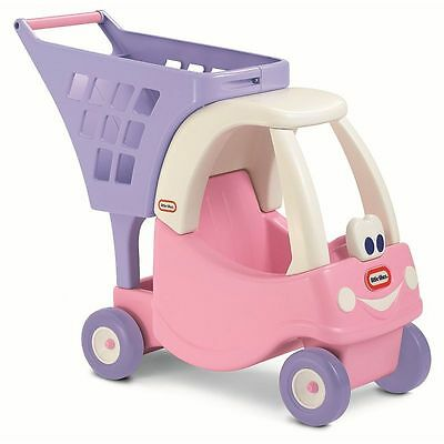 Little Tikes Cozy Coupe Kid's Shopping Cart Trolley Pink