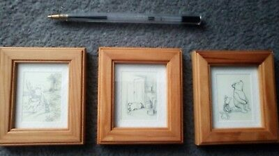 winnie the pooh framed sketches