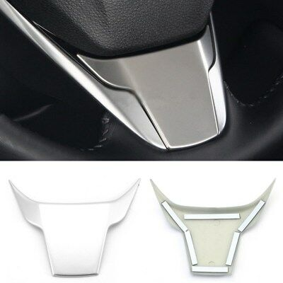 Car Steering Wheel ABS Plastic Cover Trims Chrome For Honda CRV CR-V 2017 2018