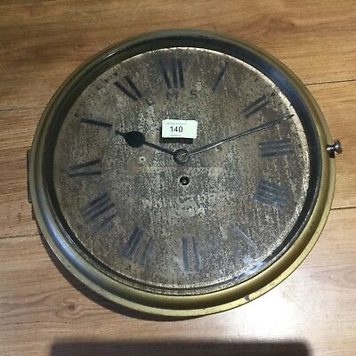 Antique brass circular clock