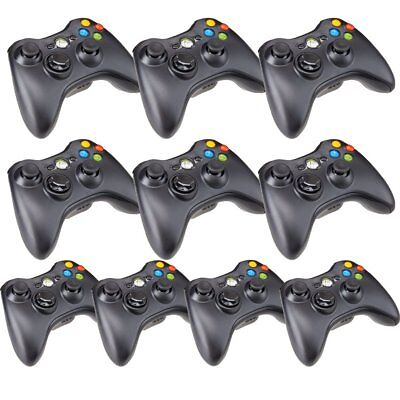10X Wireless Game Controller For Official Microsoft xbox 360 (Glossy Black)