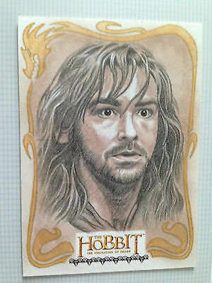 The Hobbit Desolation of Smaug Sketch Card by Dan Bergren of Kili