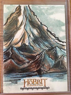 The Hobbit Desolation of Smaug Sketch Card by Dan Gorman