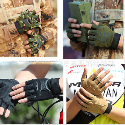 Outdoor Half Finger Glove Military Tactical Hunting Riding Cycling Gloves