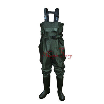 100% Waterproof Chest Waders Size 9.5 Nylon  Breatherable Fly Sea Fishing Aw1A4